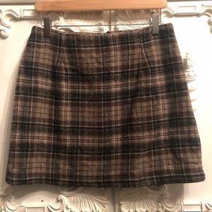 Vintage X Guess Wool Plaid Skirt